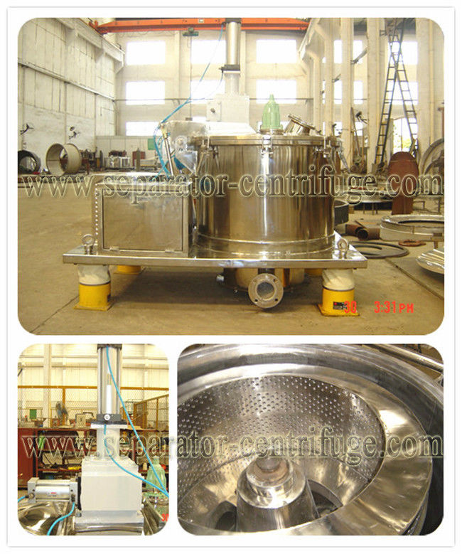 Model PPSBD Scraper Discharge Automatic Basket Industrial Centrifuge Bottom Discharge